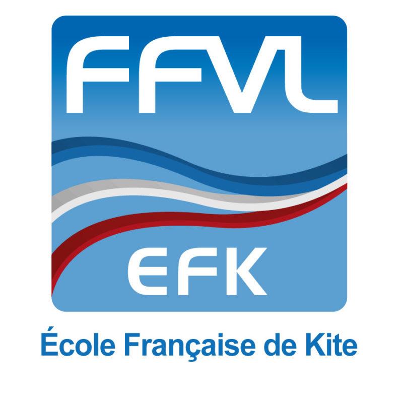 Logo FFVL Ecole Française de Kitesurf